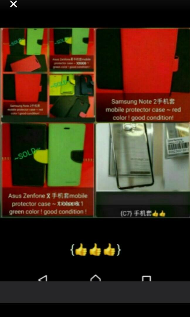 Set$39.80/3pcs → Mobile phone protector case :1 Green col. 'Asus Zenfone 2' + 1 Red col. 'Samsung Note 2' + 1 Silver col. edge 'Samsung C7'{易易發$22.80fixed price不議價for anyone choice!Special offer $39.80/3pcs. for buying all three {3} cases altogether GooD!