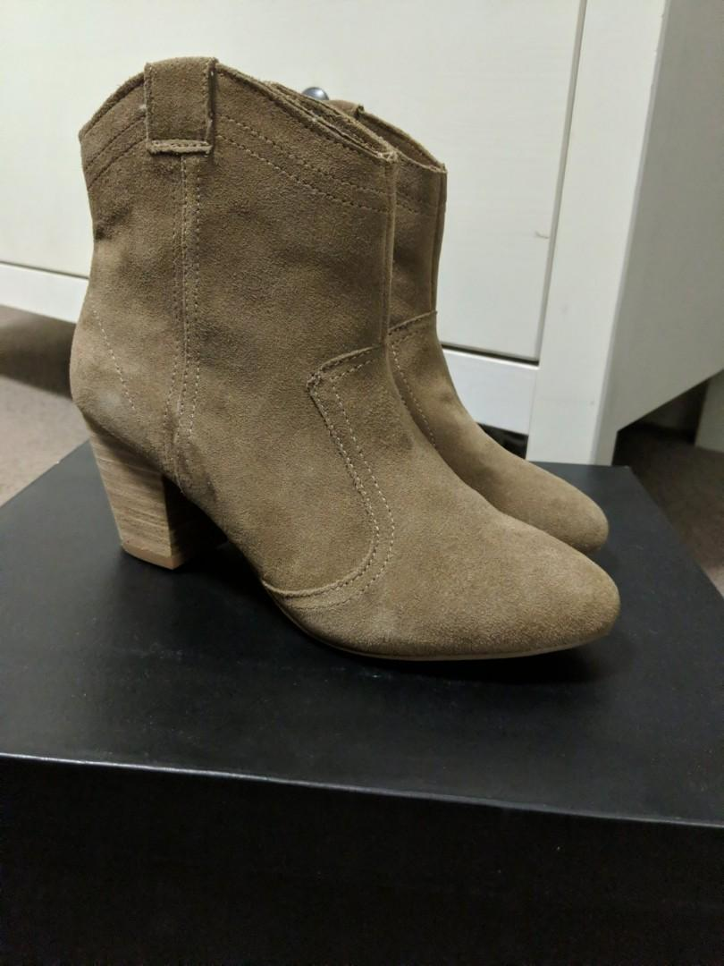 Sportsgirl western brown suede boots worn once size 36 (5.5-6)