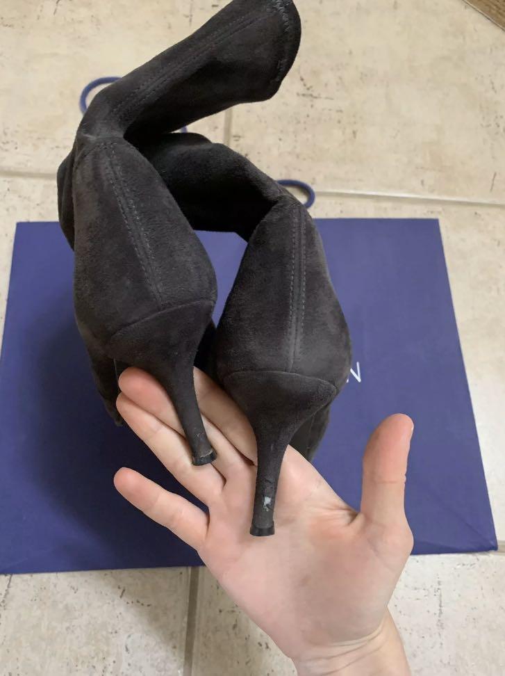 Stuart Weitzman Shoes Clingy Boots Grey Size 38.5 / 39 EU 8.5 US