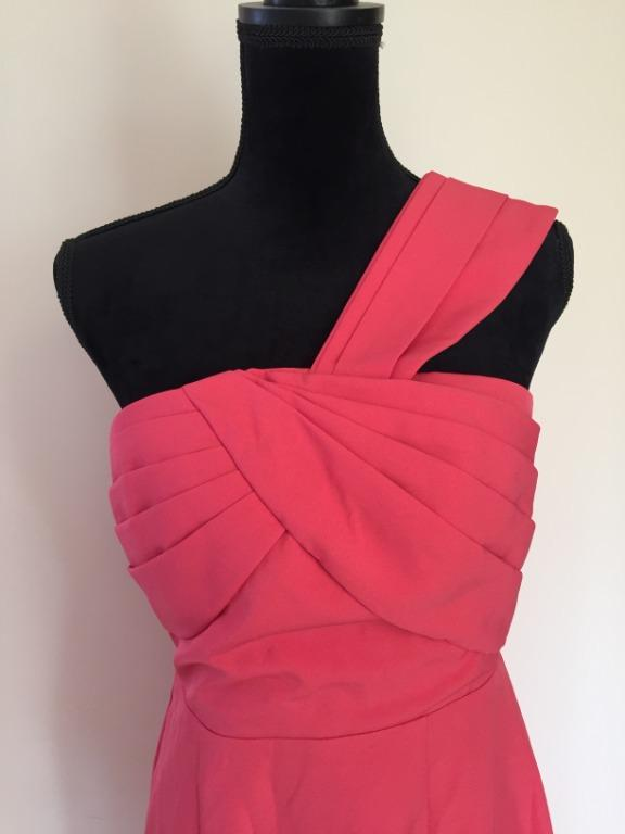 TOKITO One Shoulder Pleat Formal Dress in Pink / Rose | Size 12