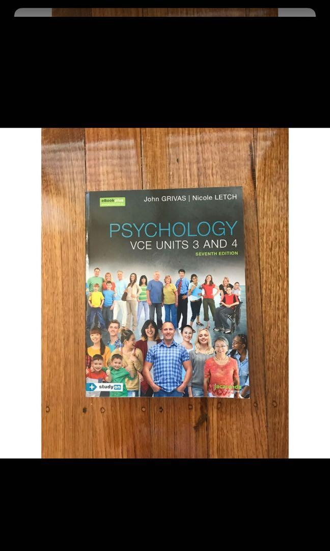 VCE psychology textbook 3/4 in excellent condition