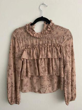 Zara dusty rose top