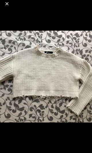 Forever 21 Distressed Sweater