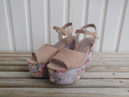 Pulp Floral Platform Heels