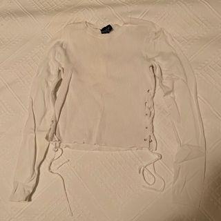 Topshop tie up shirt sweater