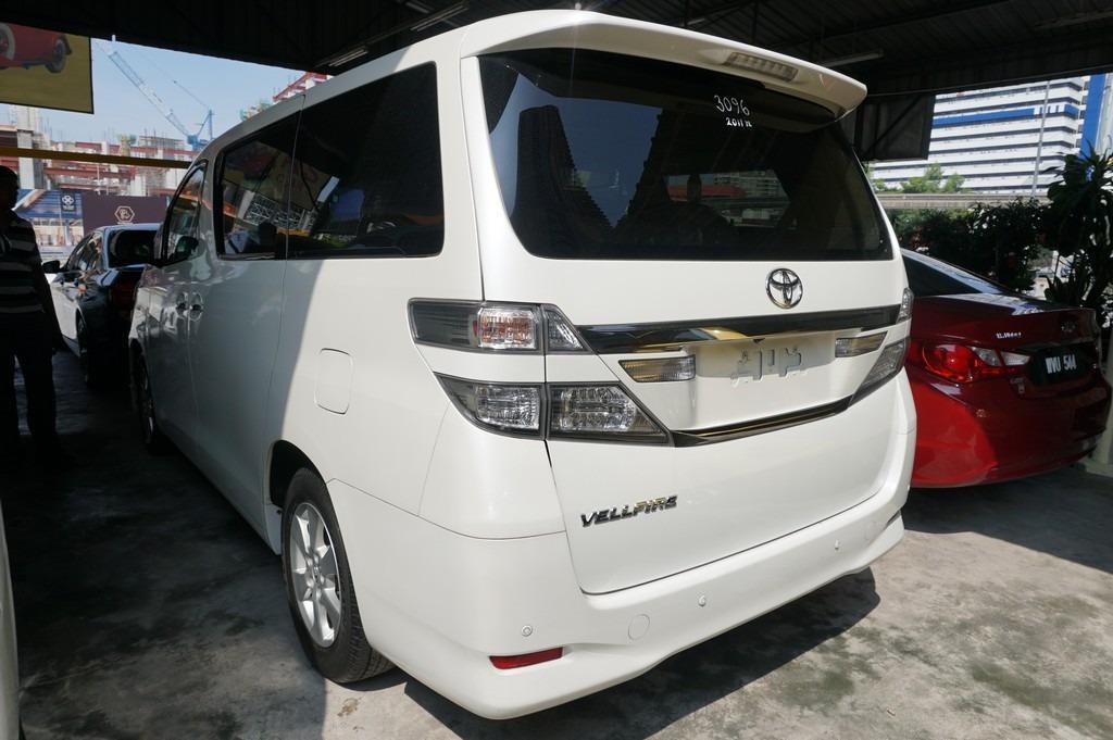 2011 Toyota VELLFIRE 2.4 FACELIFT (A) UNREG  http://wasap.my/601110315793/VellfireUnreg2011