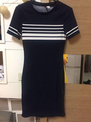 Hm h&m 窄裙 連身 運動 性感