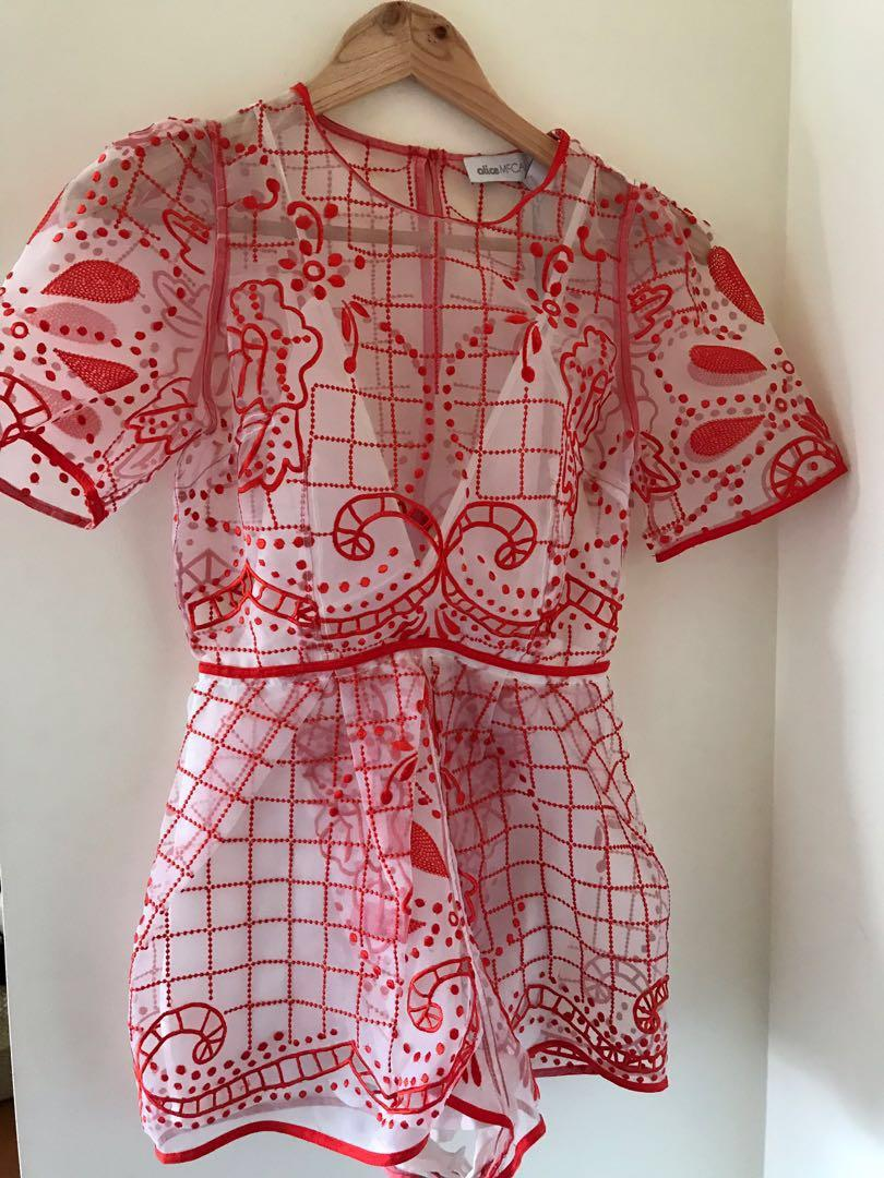 Alice McCall Space is only noise Playsuit size 6 RRP $360