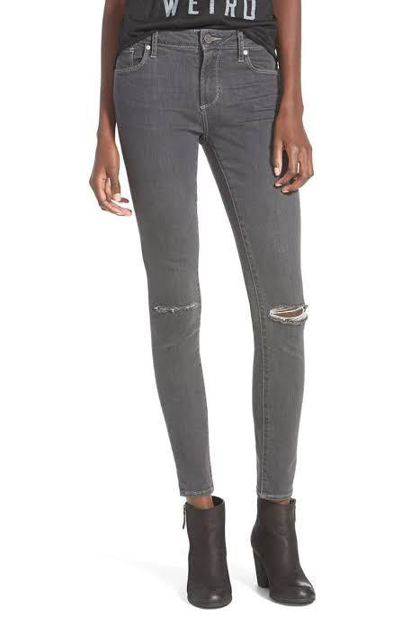 Articles Of Society Size 28 Grey Distressed Skinny Jeans