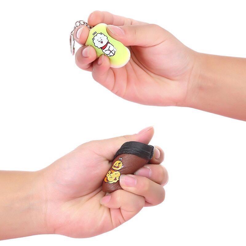 BT21 BTS Squishy Cartoon Cute Keychain / Keyring / Pendant