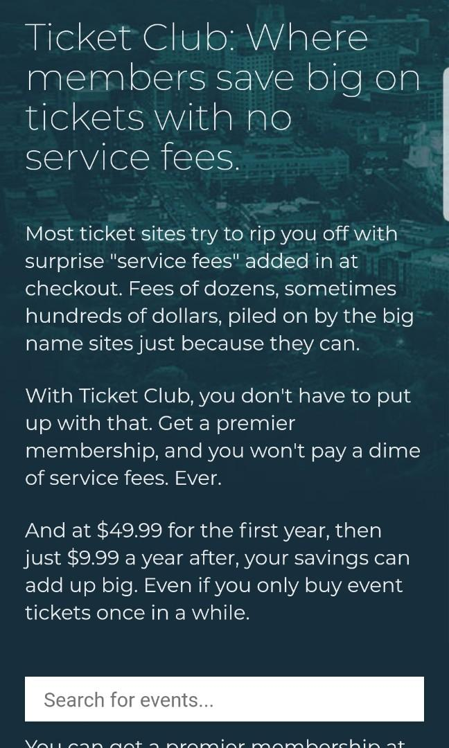 Best Website for purchasing tickets- No service fees
