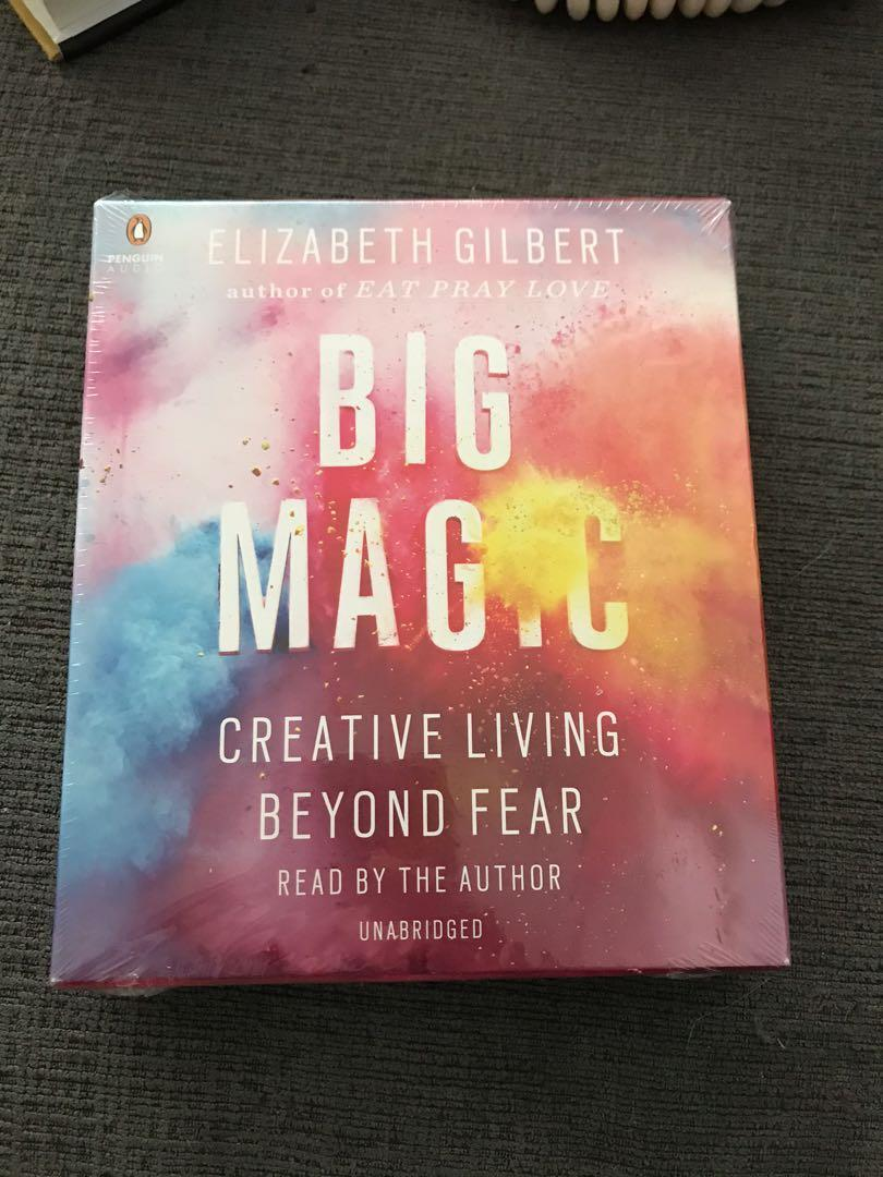 Big Magic: Creative Living beyond fear CDs by Elizabeth Gilbert-New and sealed