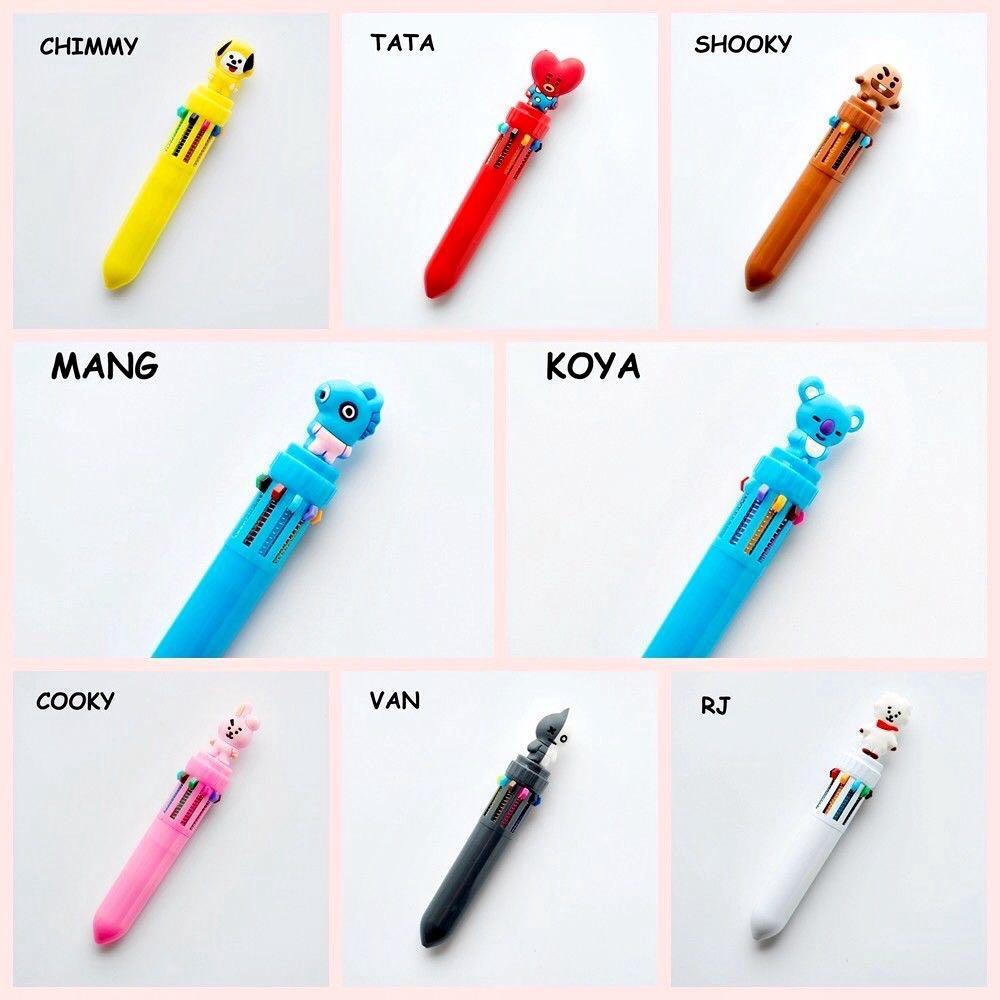 BT21 BTS 10 Ink Color Colour Cute Ballpoint Ball pen