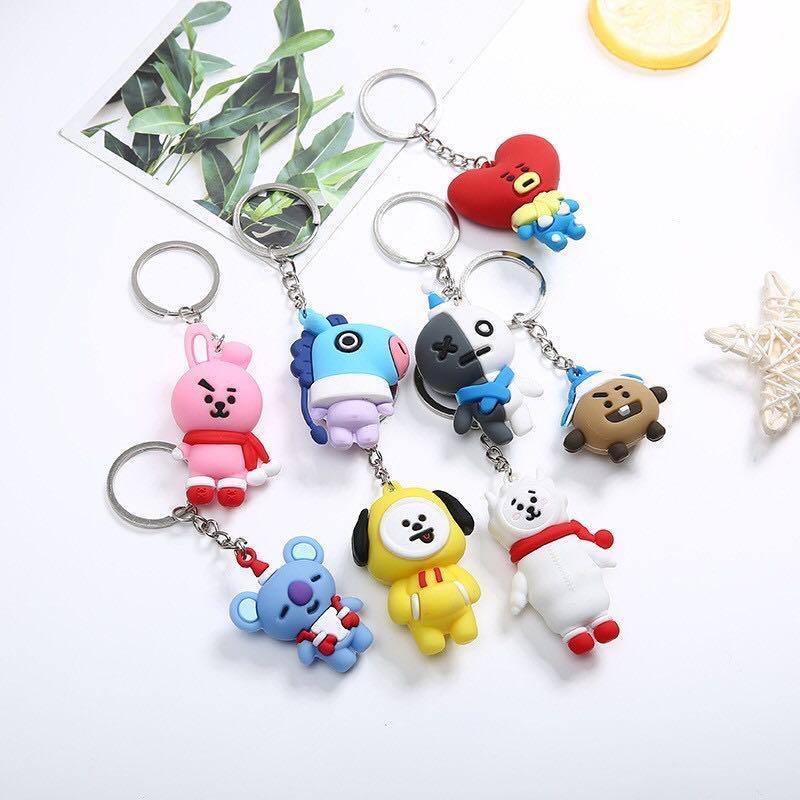 BT21 BTS Christmas Special Edition Keychain / Keyring / Pendant