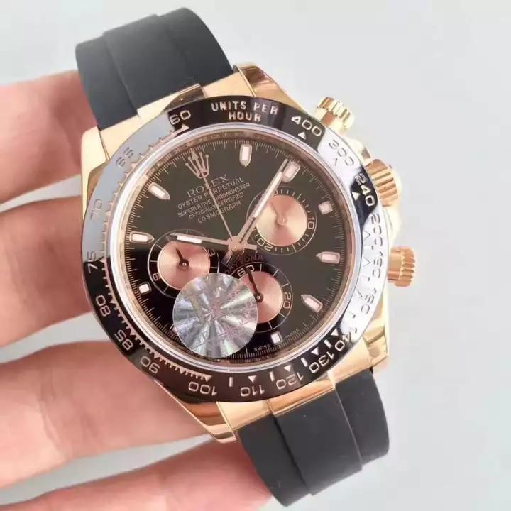 💥BUY WATCH, FREE SNEAKERS💥[PRE-ORDER] _Cosmo_Graph _D A Y T 0 N A_ 18 K Rose Gold Black Dial Swiss Engine 7750 N Factory V7 ( ETA 7-14 Days )