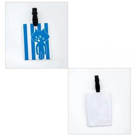 日本e mook雜誌附贈附錄 nya Ne-net 貓咪 造型票夾 卡套 行李吊牌