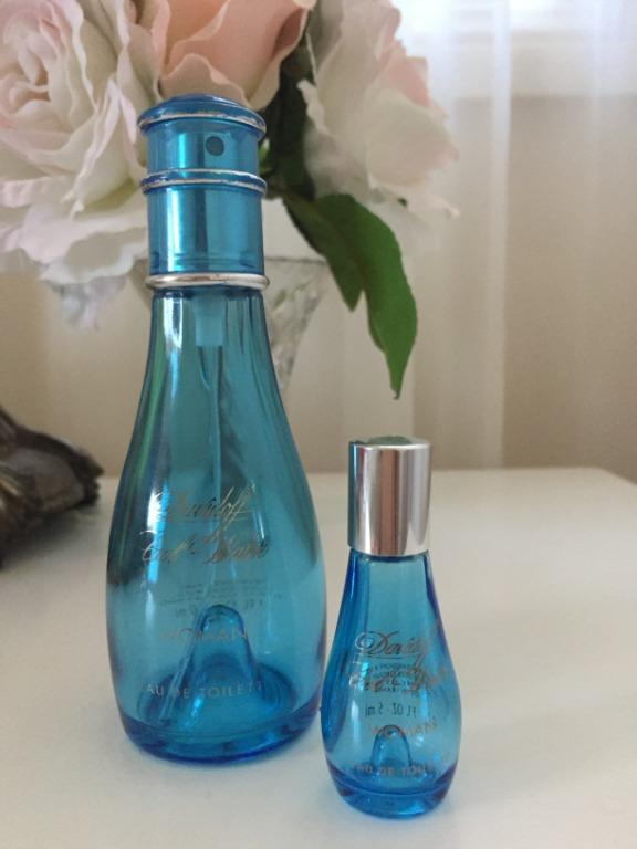 EMPTY AUTHENTIC Perfume Bottles   Davidoff Cool Water Woman