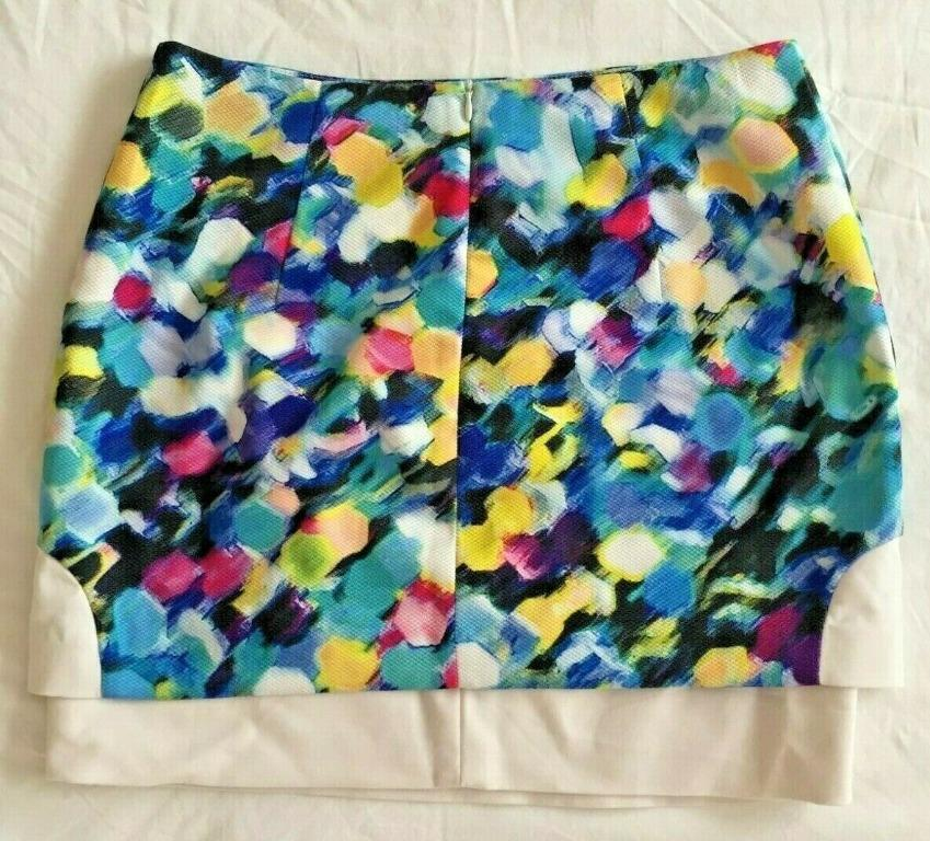 FORCAST Multicoloured Dual-Layered Skirt   Size 10