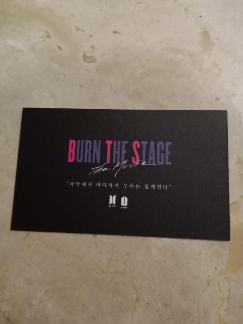 KIM TAEHYUNG, V (LIMITED EDITION) CARD FROM BURN THE STAGE PREMIRE IN KOREA