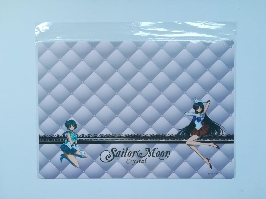 (Limited) Asahi Soft Drinks x Pretty Soldier Sailor Moon Crystal - Sailor Mercury & Sailor Mars / Sailor Jupiter, Sailor Venus, Artemis - Desk Mat / Place Mat / Lunch Mat