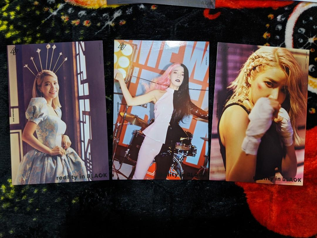 [WTS] MAMAMOO Lyric Cards of Reality In Black album