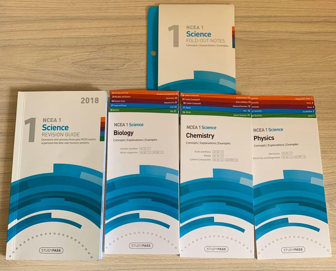 StudyPass NCEA Level 1 2018 Science Book and Notes BULK