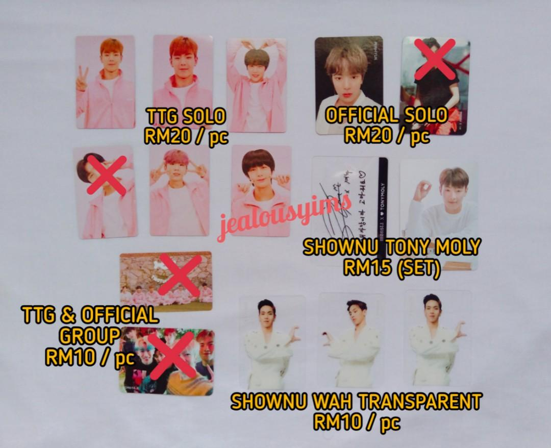 UPDATED/PRICE REDUCED WTT/WTS MONSTA X PHOTOCARDS ➡ JOOHEON