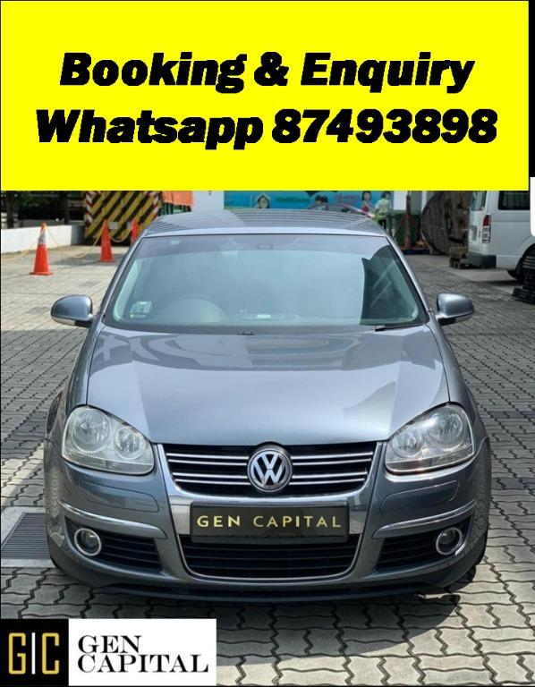 Volkswagen Jetta 1.4A Deposit $500 Driveaway Immediately into a New Year with the cheapest rental! Whatsapp 87493898 now for more info