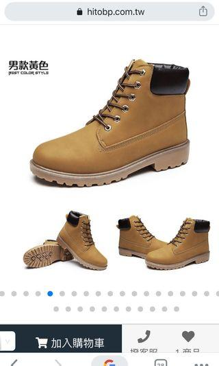 Hito本舖 全新 黃靴 馬丁靴 40號