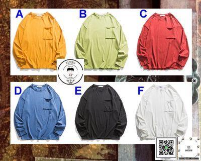 ❮❮誰合普UHF®❯❯ 簡約百搭 長袖特色圓領 上衣 男女皆可 。6色(網路特賣價$850)