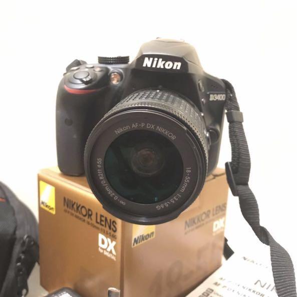 1 year warranty + Free camera bag Nikon D3400 DSLR Camera 📸