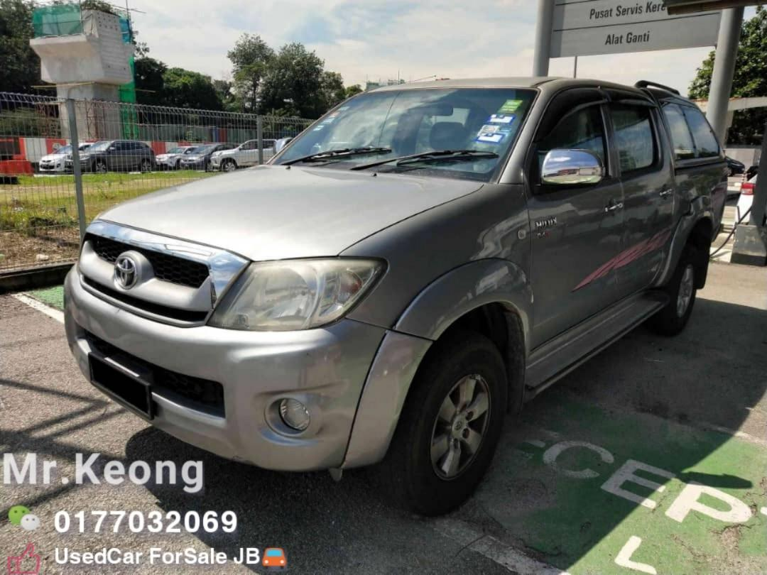 2010TH🚘TOYOTA HILUX 2.5AT G SPEC 4X4 PickUp OfferPrice💲Rm44,800 Only‼ LowestPrice InJB 📲Call KeongForMore‼🤗