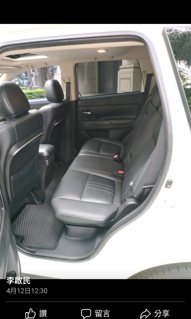 2016年9月出廠 OUTLANDER 4WD頂級款 新車價 1069000 里程數27000  原鈑件 里程數保証
