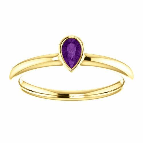 2020-Bespoke-Customization Ideas-Amethyst/Citrine/Peridot Stackable Bezel-Set Ring In 9K/14K/18K Yellow Gold Stamped (NYB251219-U350)