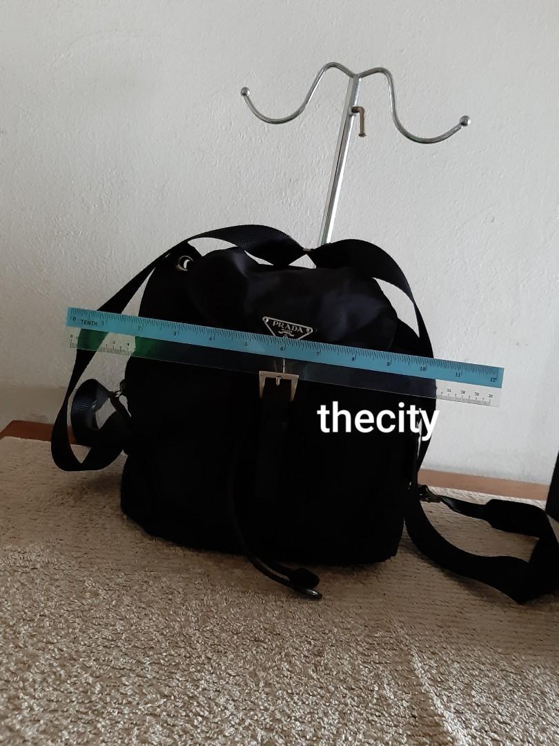 AUTHENTIC PRADA BLACK NYLON CANVAS BACKPACK- CLEAN INTERIOR,  GOOD CONDITION- (PRADA BACKPACKS NOW RETAIL AROUND RM 6000+)