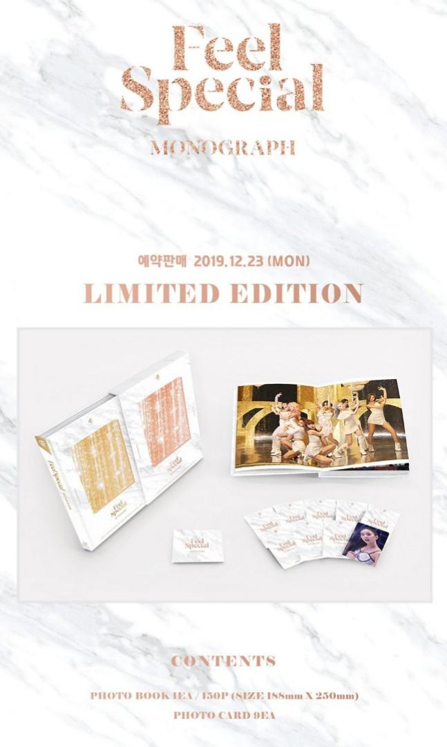 [FREE POSTAGE] TWICE - FEEL SPECIAL MONOGRAPH LIMITED EDITION