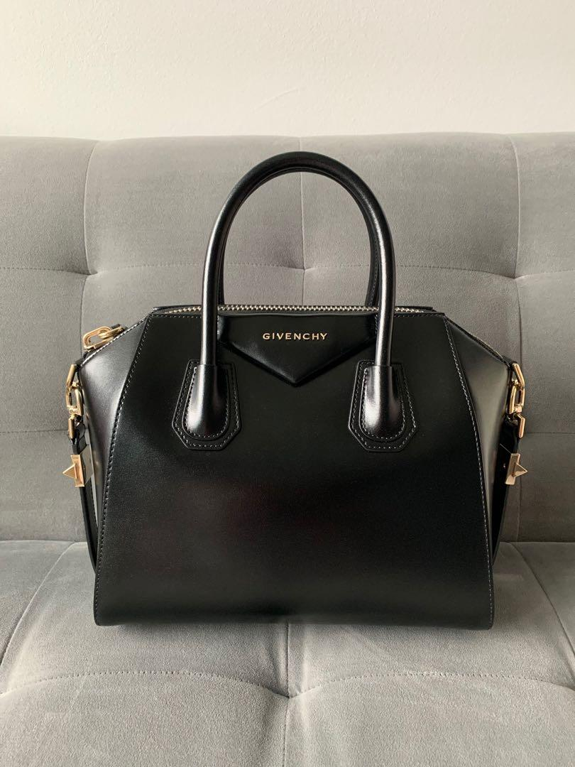 Givenchy Antigona Small - smooth calf, light gold HW
