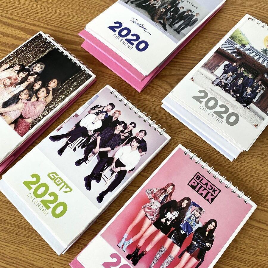 KPOP BTS SEVENTEEN TWICE GOT7 BLACKPINK 2020 HIGH QUALITY CALENDAR
