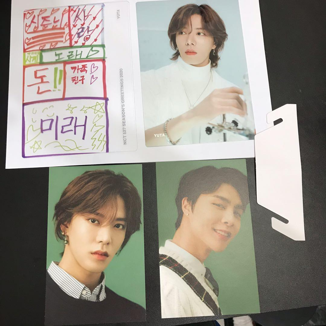 NCT127 YUTA SET - SEASONS GREETINGS 2020 OFFICIAL POSTCARD AND ELEMENT CARD