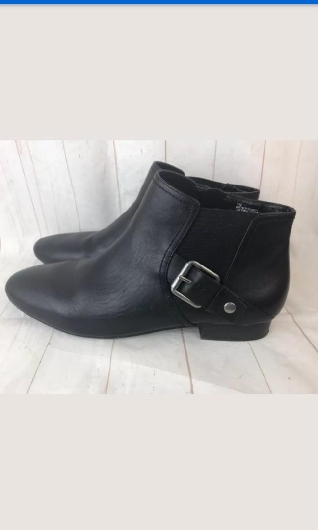 Nine West New black leather booties shoes buckle size 11 or 10.5