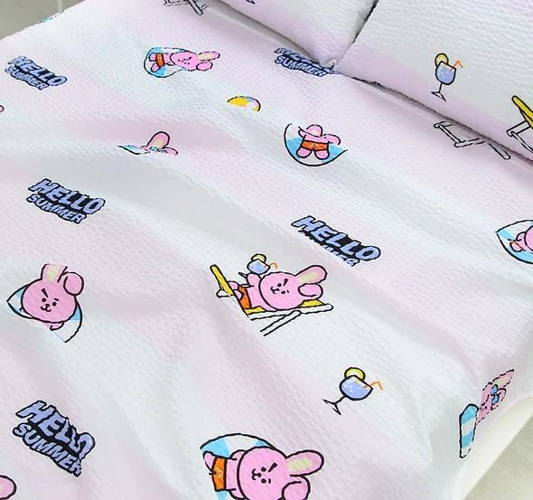 (PO) Official BTS BT21 x Narahome Deco Ripple Blanket