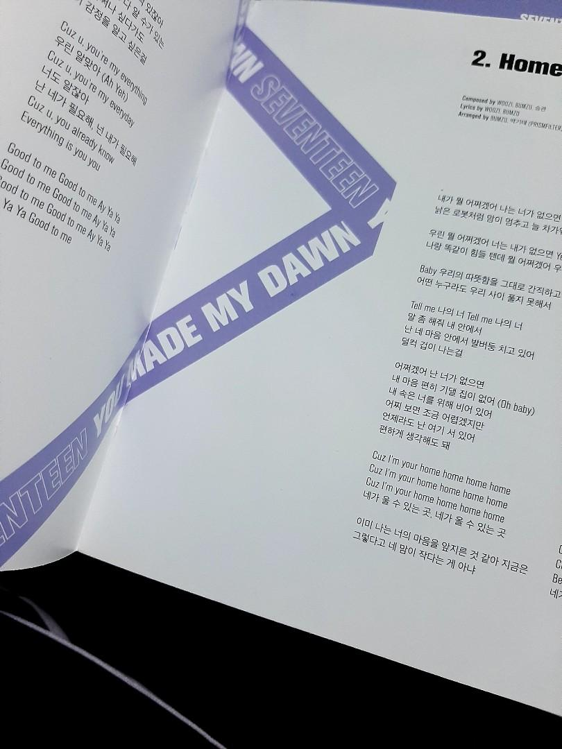 SEVENTEEN 'YOU MADE MY DAWN' OFFICIAL ALBUM (BEFORE DAWN VER.)