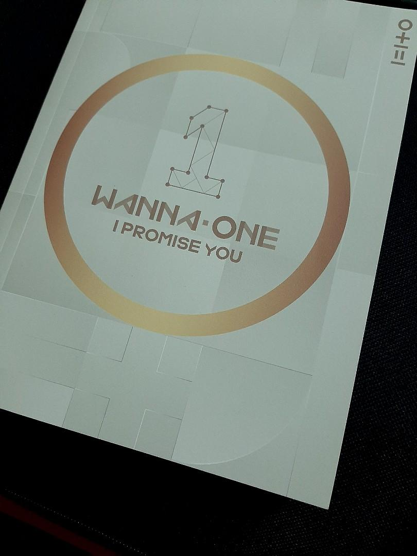 WANNA ONE 'I PROMISE YOU' ( DAY VER. ) OFFICIAL PHOTOBOOK + MINHYUN AND DAEHWI CARD
