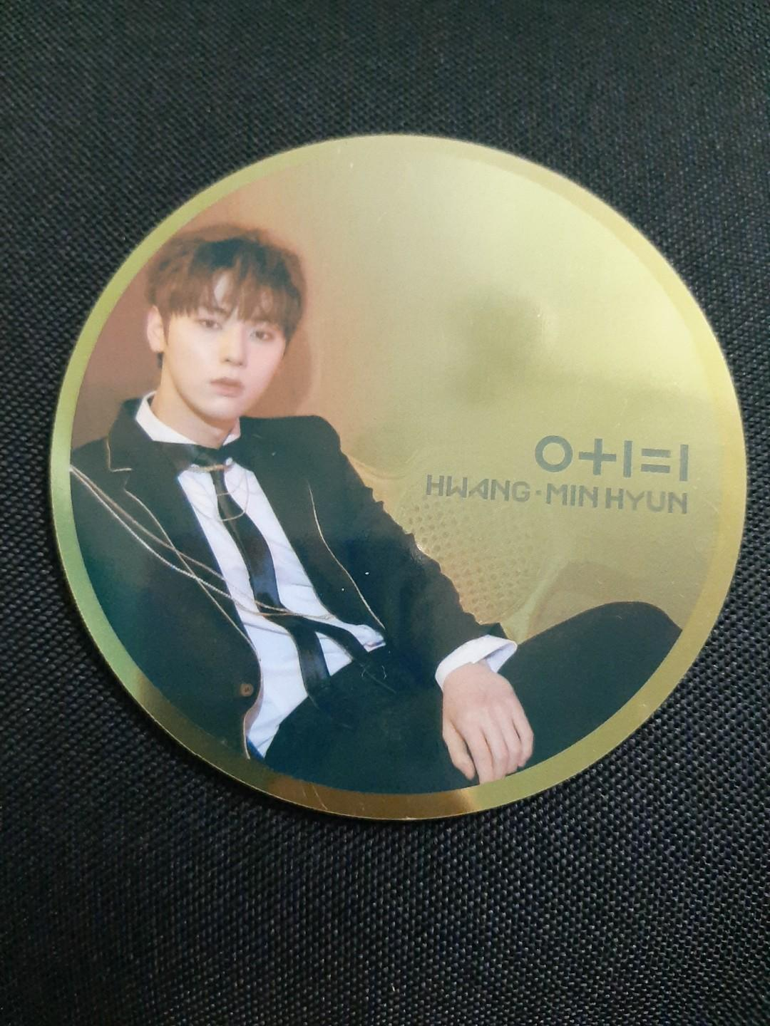 WANNA ONE 'I PROMISE YOU' NIGHT VER. MINHYUN OFFICIAL MIRROR CARD