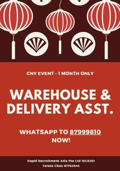 Warehouse & Delivery Assistants @ North East, Start ASAP!