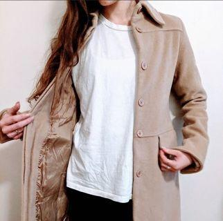 Camel wool and cashmere coat XS