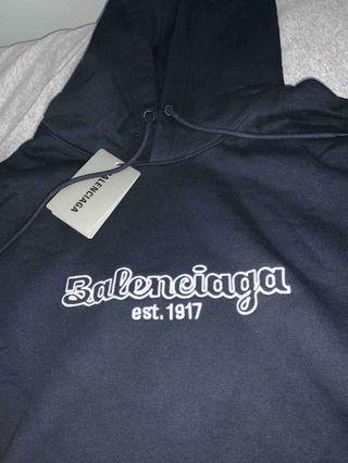 Balenciaga Embroidered Hoodie - sz S🔥