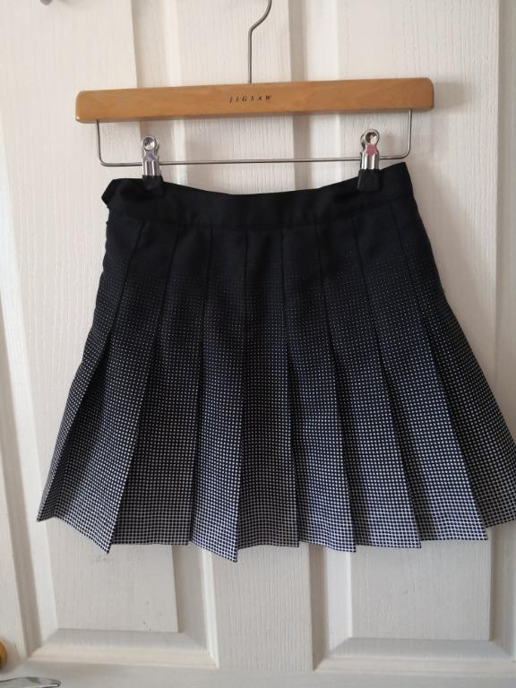American Apparel, Black Ombre Tennis skirt, AU6 XS