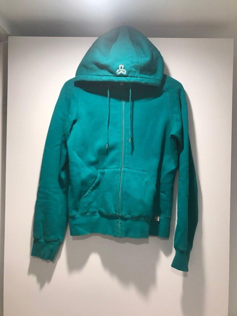 Aritzia TNA Emerald Green Fleece Hoodie Size Small