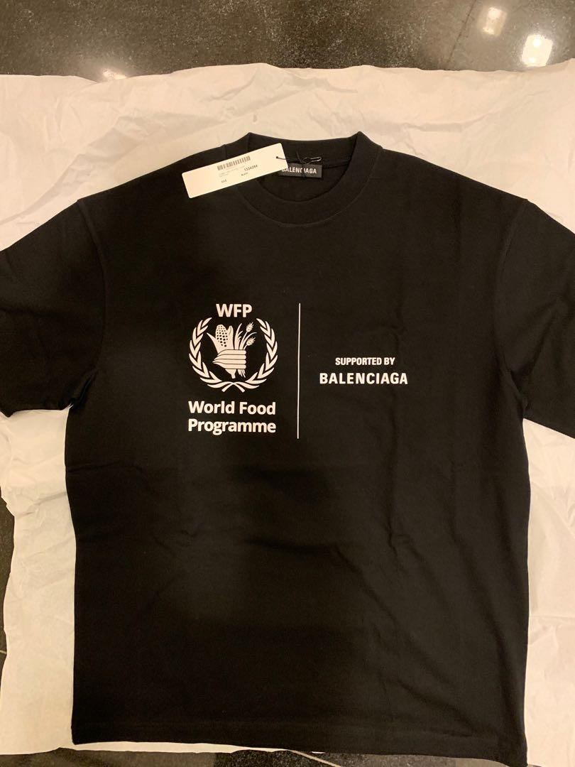 Balenciaga World Food Programme Wfp Black Tee Men S Fashion Clothes Tops On Carousell